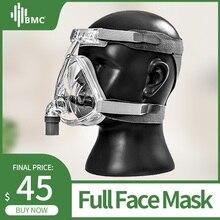 BMC FM2 Full Face Mask Модная родо-носовая маска для CPAP аппарата с размером S / M / L помогает пациентам с храпом получить эффективную терапию