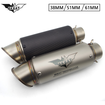 51mm 61mm Universal Motorcycle Scooter Exhaust proyect Exhaust Muffler FOR Honda grom 125 cbr 1000rr z50 crf450 cb500x nc700s image