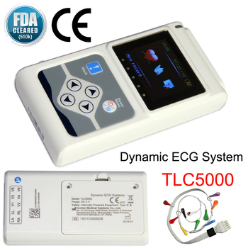 TLC5000 Handheld Dynamic ECG Machine EKG Holter 12 lead 24h Analyzer Recorder Electrocardiograph Monitor Health Care+PC Software 1