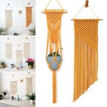 Гобелен ручной работы в богемном стиле с кисточками и хлопковой веревкой для украшения стен дома спальни AC889