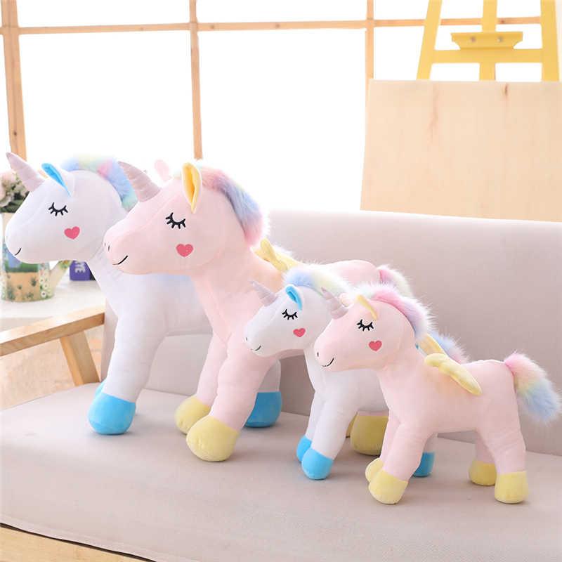 Bonito Dos Desenhos Animados Elf One-horned Pegasus Unicórnio Brinquedo De Pelúcia Brinquedos de Pelúcia para Crianças Meninos e Meninas Presentes de Decoração Para Casa