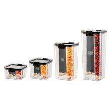 Tarro sellado transparente de plástico para almacenamiento de cocina, tarro de almacenamiento de granos de café y nueces, caja para almacenar granos, 700/1300/1800ML