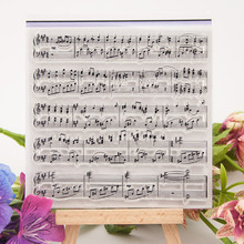 Sheet music Note Symbol Clear Stamp Transparent Silicone Seal for DIY Scrapbooking Card Making Photo Album Decor Crafts Supplies