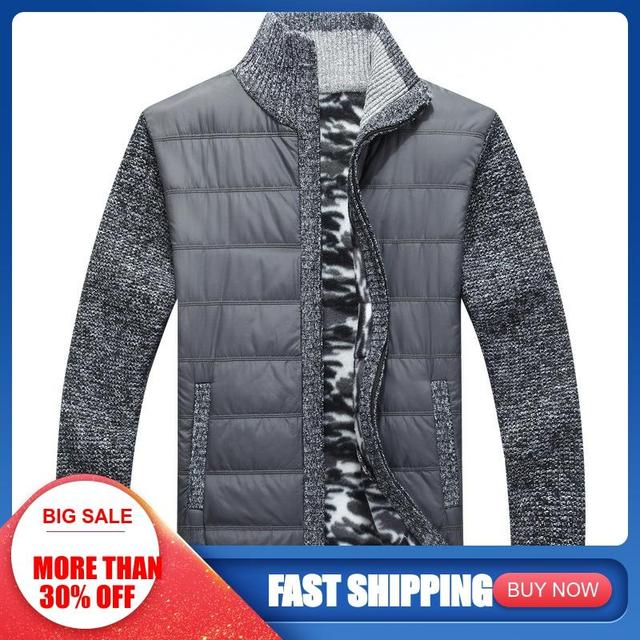 Winter Wool Muscle Fit Knitted Jackets Fashionable Male Clothing