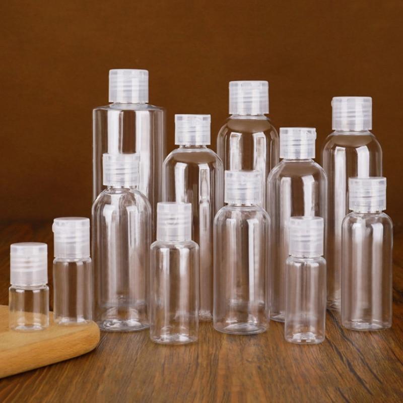 5 250ml mini viagem garrafa vazia de plástico portátil handwashing líquido spray transparente atomizador garrafas recarregáveis dropship