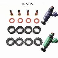 O envio gratuito de 40 conjunto kit de reparação injector combustível kit serviço para mazda premasi 1999 fp 1.8 protege 2.0 injector conjunto (AY-RK066)