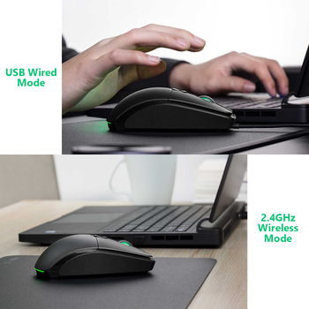 Original Xiaomi Wireless Mouse Gaming USB 2.4GHz 7200DPI RGB Backlight Rechargeable Computer Mouse Gamer Optical 2