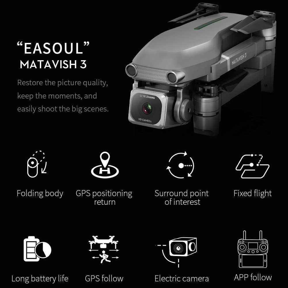 Zangão gps hd 4k câmera 1080 p 5g wifi brushless distância de controle do motor 1000m vôo 25 minutos câmera do zangão esc