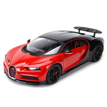 Bburago 1:18 Bugatti Chiron Sports Car Static Simulation Diecast Alloy Model Car bburago bugatti chiron 1 18 scale alloy model metal diecast car toys high quality collection kids toys gift