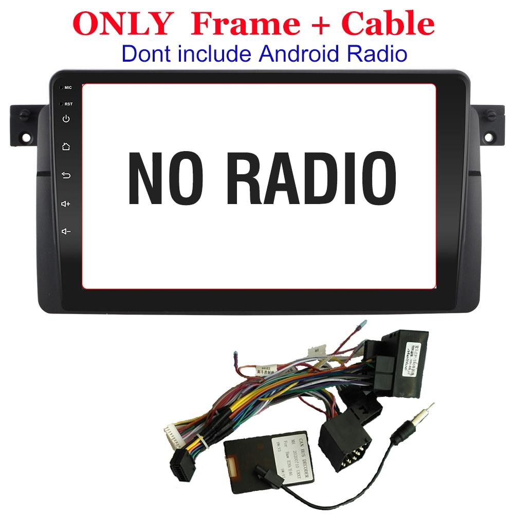Отделка для стереопанели 2DIN DVD для BM W 3 серии E46, рамка для установки радиоприемника, мультимедийный видеоплеер, панели, облицовки