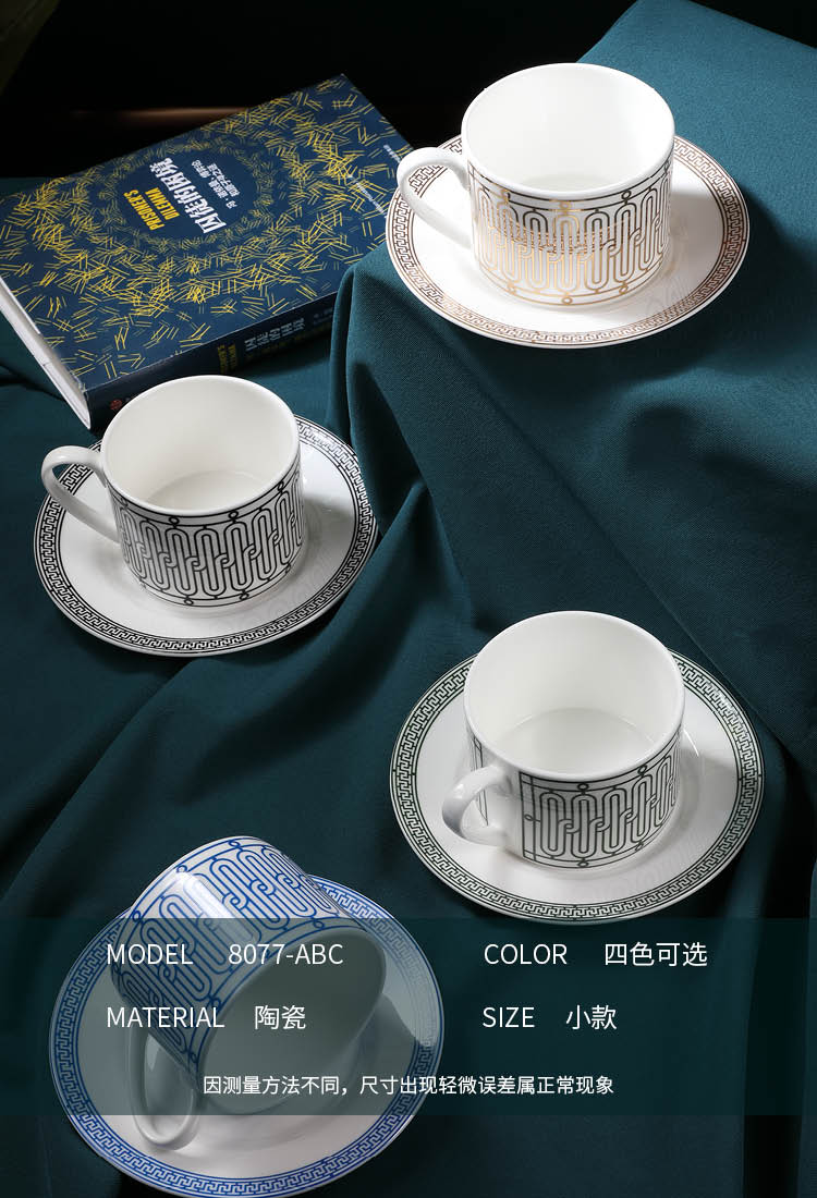 Ouro criativo copo de café luxo design