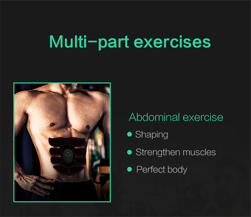Abdominal Muscle Stimulator Trainer Smart Wireless Abs Stimulator Fitness EMS Muscle Massager Electric Slimming Massage Machine