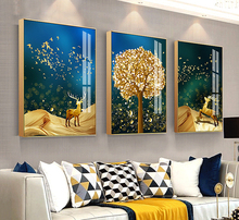 Luxury Aluminum Alloy Plexiglass Photo Frame Wall Hanging Frame for Living Room Sofa Background Decor Pictures Frames