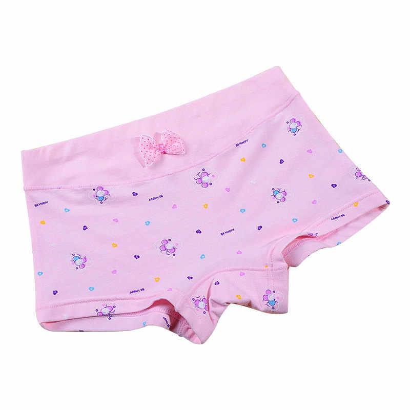 ملابس داخلية للأطفال البنات مُزينة برسوم كارتونية ملابس تحتية للأطفال ملابس تحتية قصيرة سروال تحتي بفيونكة من القطن بتمشيط للبنات من 3 إلى 9 سنوات