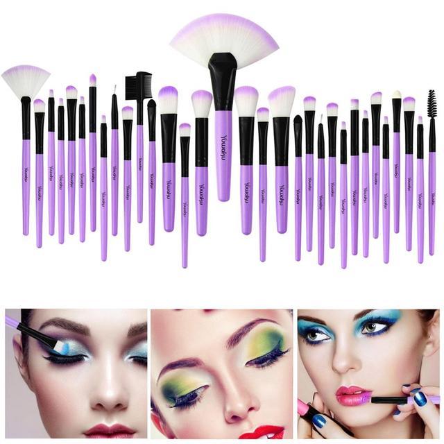 VANDER 32Pcs Makeup Brush Set W/ Bag Foundation Eye Shadows Lipsticks Powder Brushes Cosmetic Make up Brushes pincel maquiagem 4