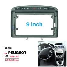 2 Din 9 Zoll Auto Radio Installation DVD GPS Mp5 Kunststoff Fascia Panel Rahmen für Peugeot 308 2008 2013 dash Mount Kit