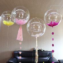 50 pces 5/10/18/20/24/36 polegada bobo balão bolha natal festa de aniversário casamento decoração balão criança led balão de hélio