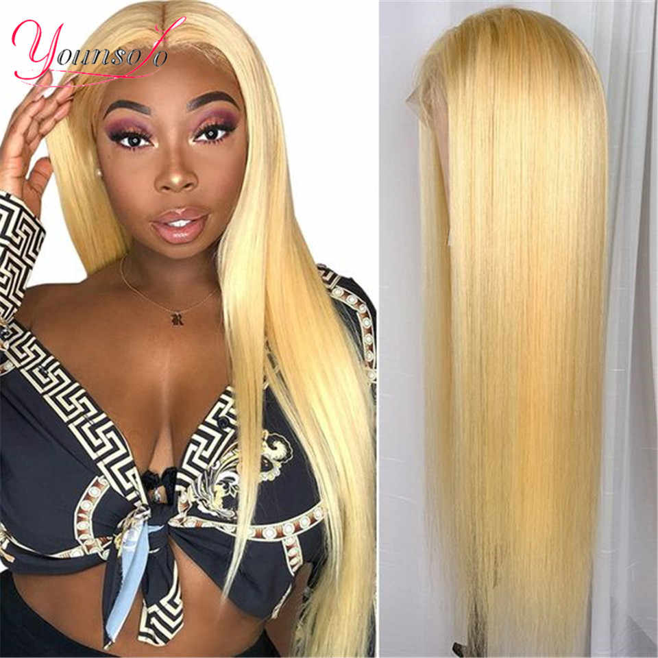 Younsolo 613 Lace Front Pruik Remy Haar Kant Frontale Pruik 13X4 Maleisische 150% Dichtheid Straight Lace Front Human Hair Pruiken