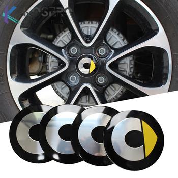 4 sztuk zestaw naklejki koła dla Mercedes Smart Fortwo Forfour 453 451 450 zmodyfikowany pokrywa koła naklejki samochodowe akcesoria 55mm tanie i dobre opinie kosero Opony i Obręczy CN (pochodzenie) Inne naklejki 3d Zmieniające kolor Stop metalu Bez opakowania