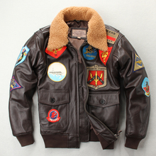 Free shipping,Air force leather jacket.leather G1 style wint