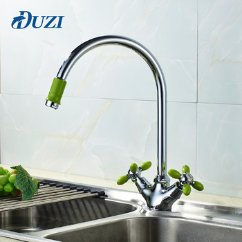 цена на Kitchen Sink Water Faucet Cold And Hot Water For 360 Degree Rotation Double Lever Sink Mixer Basin Sink Mixer Tap Kitchen Mixer