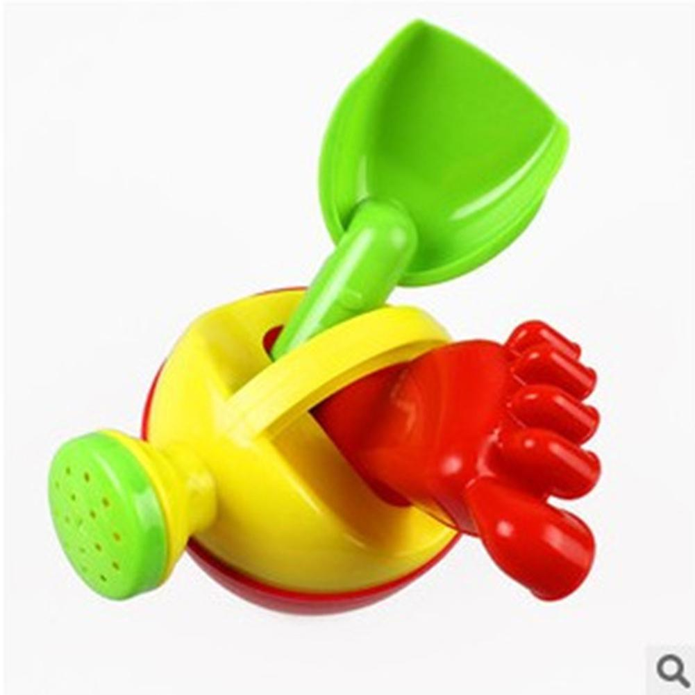 3 Pieces Children Beach Toy Set Sprinkler Shovel Footprint Fun Time Baby Play Water Sand Tools Puzzle Beach Toys Random Color