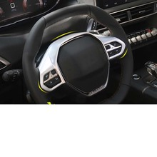 Lsrtw2017 Abs Car Steering Wheel Trims for Peugeot 3008 5008 Interior Accessories