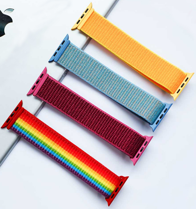 Sport Loop For Apple Watch Band Strap 44mm 40mm 42mm 38mm Iwatch Serie 5/4/3/2/1 Bracelet Wrist Nylon Breathable Smart Watchband