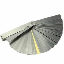 32 cuchillas telémetro Feeler Indicador de acero inoxidable marcado Dual 0,04-0,88mm agujero de espesor herramienta de medición de relleno Métrico