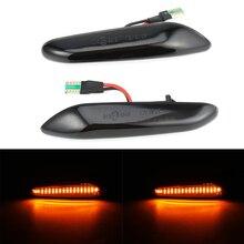 цена на 2pcs 12V Side Marker LED Water Flow Turn Signal Light For BMW E36 E46 E60/E61 E81 E82 E87 E88 E90/E91 E92/E93 Side Marker Light