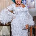 Anna africano brocado tecido de renda 2020 alta qualidade bordado francês rendas penas nigeriano tule tecidos 5 jardas/pçs para vestido