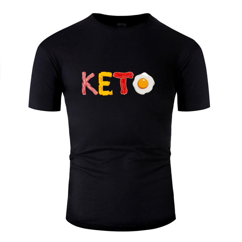 Keto Diet Ketosis Graphic For Low Carb High Fat T Shirt Men Women 2020 Custom Unisex Men T Shirt Vintage Tee Tops O Neck image
