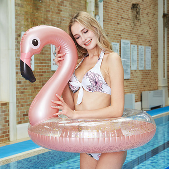 Inflatable Flamingo Swimming Pool Game Float Toy Adult Buoy Summer Toys Water Fun Play Floating Row