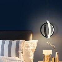 Moderne LED Anhänger Licht für Nacht Esszimmer Wohnzimmer Küchen Hängen lichter für home Kreis anhänger lampe für Büro schlafzimmer-in Pendelleuchten aus Licht & Beleuchtung bei