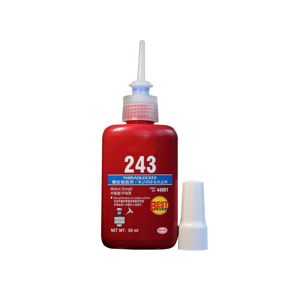 1 Pcs 243 Medium Strength Threadlocker Anaerobic Adhesive To Medium Glue For M8 GQ999 Liquid Thread Strength 50ml M20 Blue D8N8