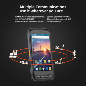 Image 3 - PDA Scanner Handheld Android 8.1 POS Terminal barcode Scanner 2D 4G WiFi Zebra  Bar code Reader 8000mAh Battery Data Collector