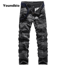 Men Camouflage Cargo Pants High Quality Cotton with Pockets Mens Trousers Casual Sweatpants Sport Streetwear for Men Plus Size