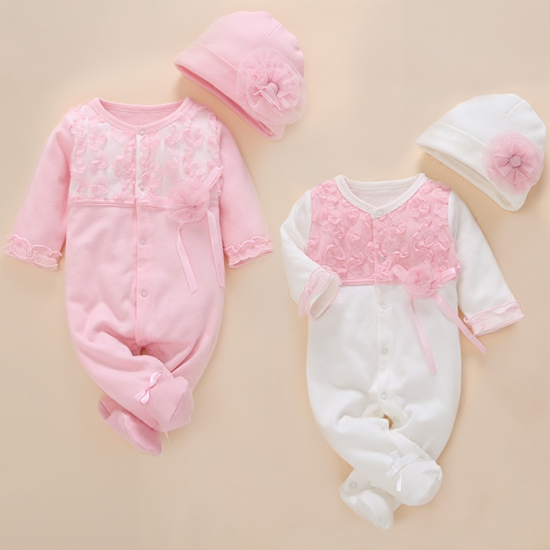 Newborn Baby Girl Clothes 0 3 Months Romper 2019 Summer Cotton Jumpsuit Footwear Rompers Cute 0 3 6 Months Baby Girl Clothing