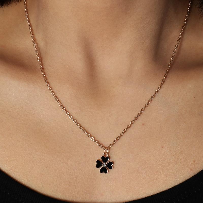 Ожерелья и подвески в простом стиле черного цвета для женщин и девушек, женская бижутерия, колье, безделушка на День святого Валентина