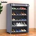 Простая полка для обуви из нетканого материала, почти Съемная дверь, органайзер для обуви, полка для дома и общежития, шкаф для обуви