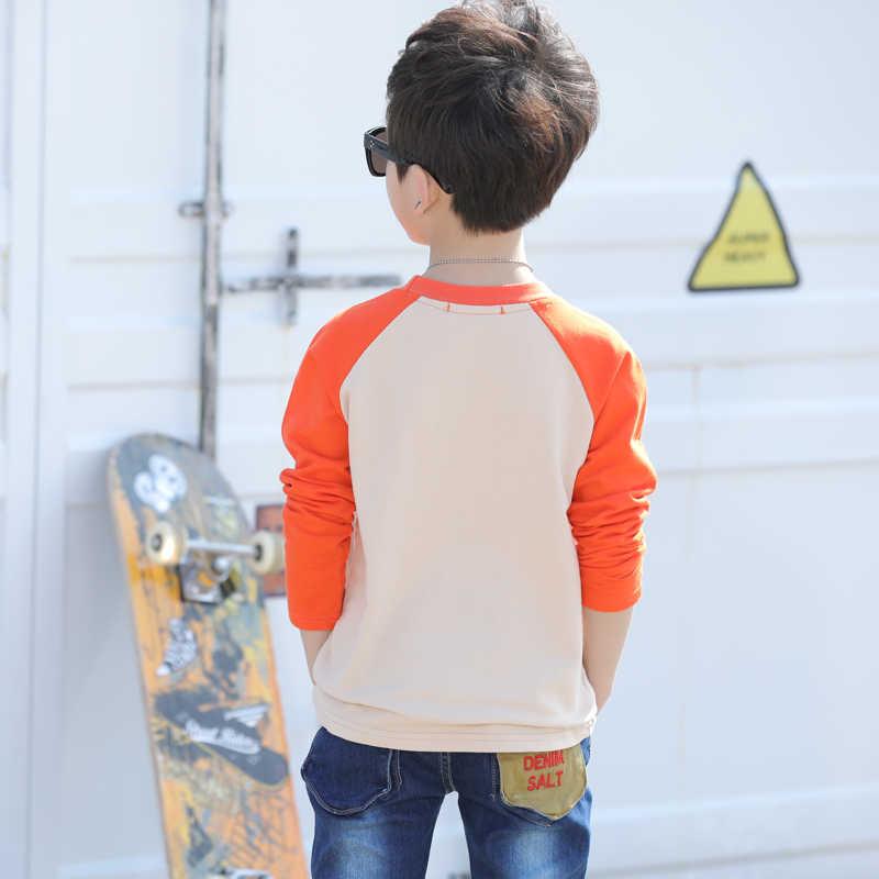 ملابس الأطفال الصبي تي شيرت طويل الأكمام الصبي الداخلية قميص الأطفال ارتداء في الربيع والخريف ل 4 5 6 7 8 9 10 سنة