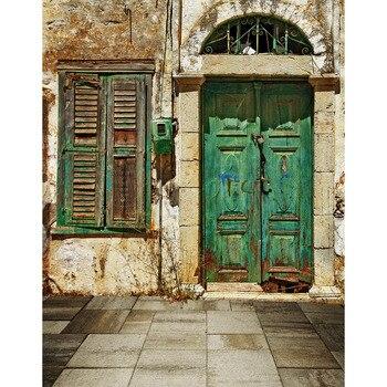 Fondos especiales foto poliéster Puerta Vieja pintura fotografía telón de fondo para estudio de fotógrafo kits telón de fondo fotófono S-2229
