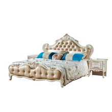 luxury italian bedroom furniture set king size classic italian latest wooden bed designs furniture set(China)
