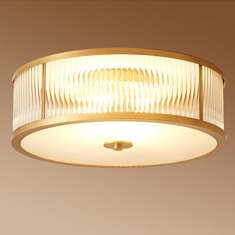 Современный медный Американский потолочный светильник для гостиной, столовой, отеля, балкона, светодиодный потолочный светильник из