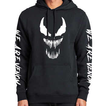 Comic Thick Venom Hoodie Sweatshirts Superhero Anime Cool Black Autumn Winter Tops Plus Velvet Warm Hoody - DISCOUNT ITEM  5% OFF All Category