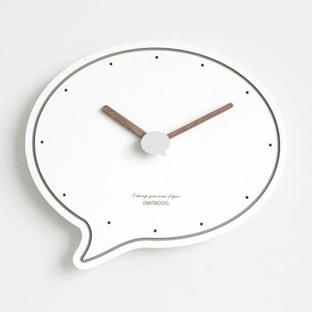 Creative Cartoon Wall Clock Silent Clock Nordic Modern Design Simple Wall Watch Irregular Reloj De Pared Home Decoration AA50ZB
