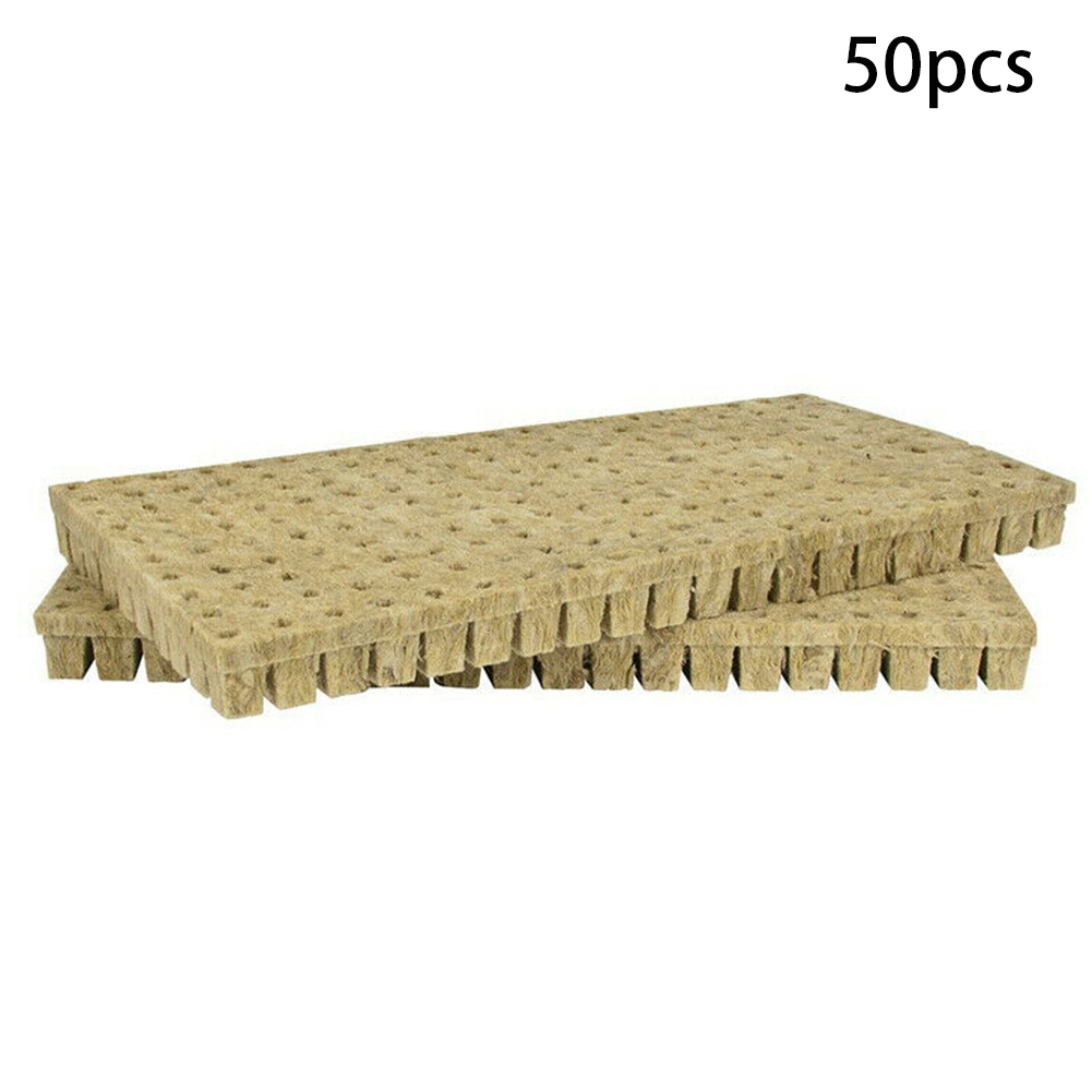 25x25x40mm Soilless Cultivation Blocks Garden Rockwool Cubes Mini Practical Greenhouse Hydroponic Grow Planting Compress Base