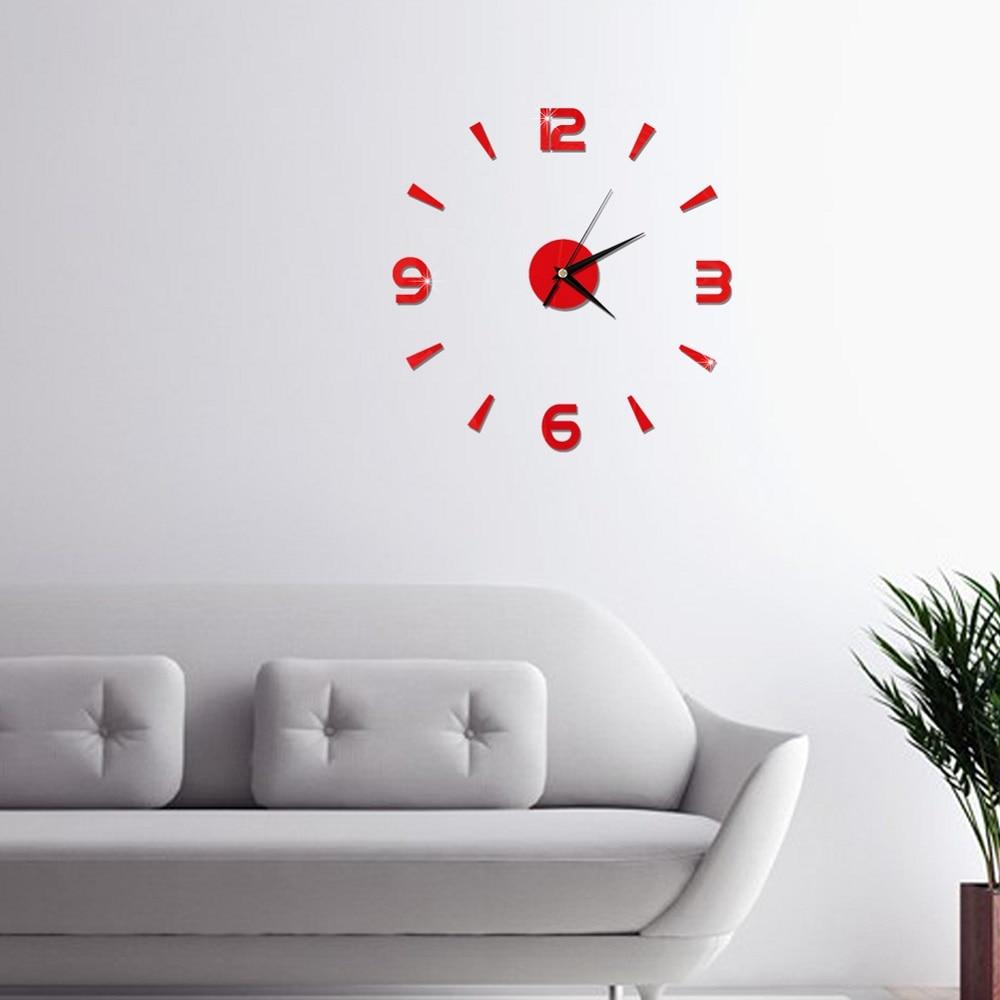 2019 New 3D Wall Clock Mirror Wall Stickers Fashion Living Room Quartz Watch DIY Home Decoration Clocks Sticker reloj de pared 18