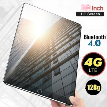 2020 6G+128GB Tablet 10 Inch Ten Core 4G Network  WiFi Tablet PC Android 8.0 Arge 1280*800 IPS Screen Dual SIM Dual Camera Rear