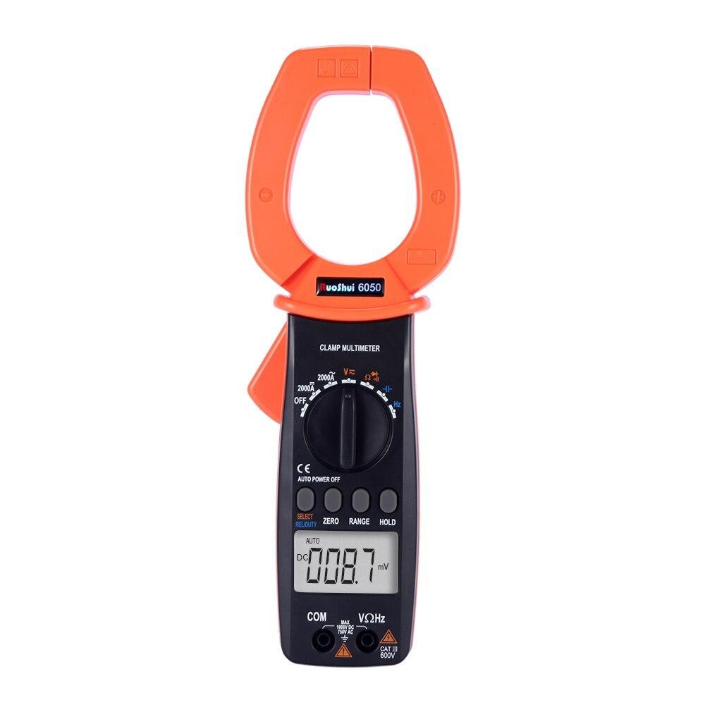 RuoShui-Medidor de abrazadera 6050 amp 2000 recuentos, rango automático de resistencia, frecuencia de capacitancia 2000A Digital AC DC, 4000